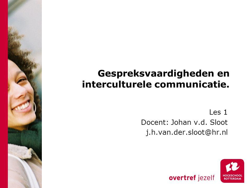 Gespreksvaardigheden en interculturele communicatie.