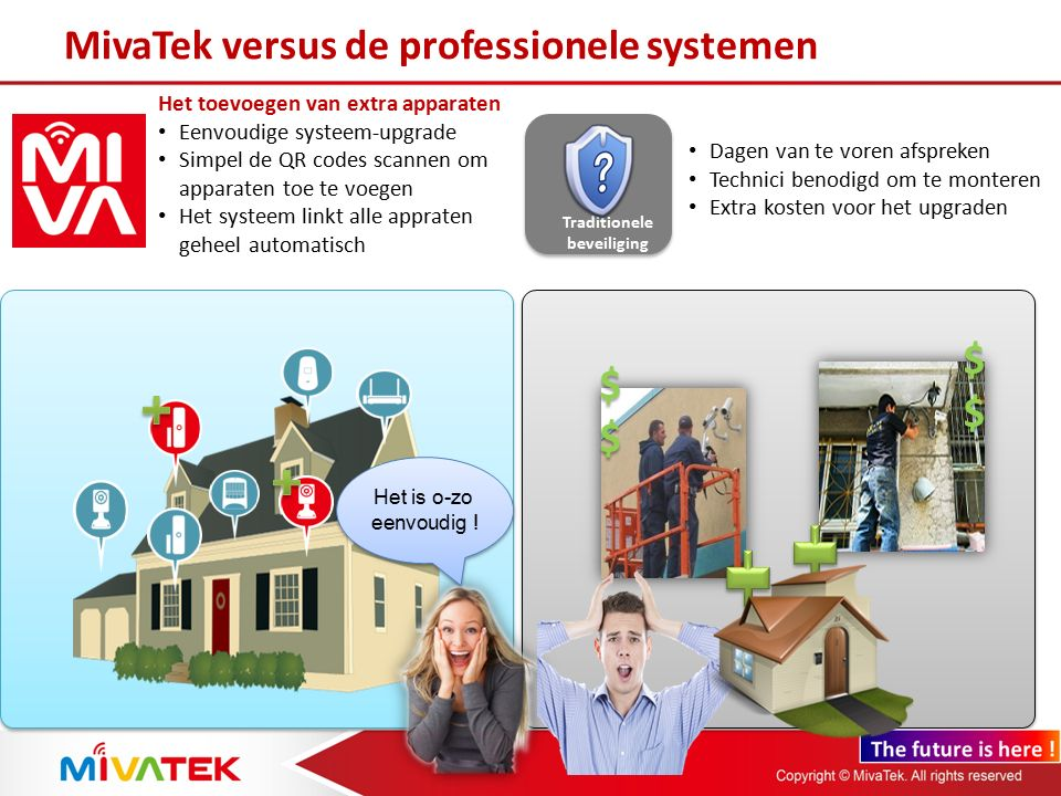 Multi-systeem toegang Toegang tot verschillende systemen van bv familie of ouders U kunt verschillende systemen tegelijk bedienen, bewaken, inkijken en ermee communiceren.