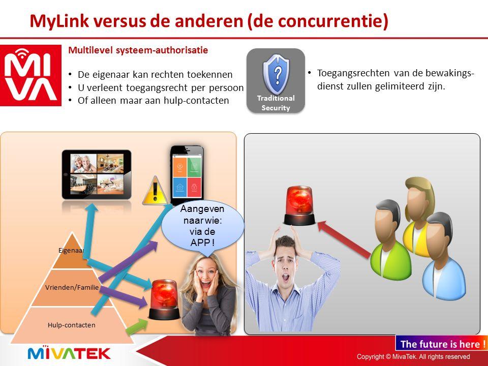 MyLink App Multi-Platform App voor iOS, Android, Windows Phone Technici moeten de software installeren op uw prive PC Ook heeft u vaak gelimiteerde support en ondersteuning É cht werkend op ieder type SmartPhone .