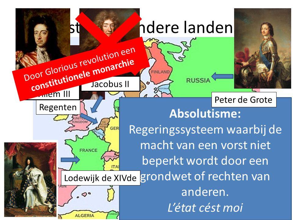 Absolutisme: Regeringssysteem waarbij de macht van een vorst niet beperkt wordt door een grondwet of rechten van anderen. L'état cést moi 6.3 Bestuur