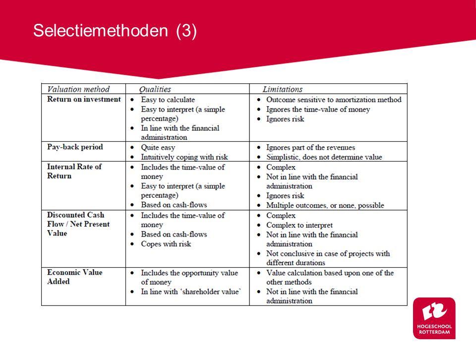 Selectiemethoden (3)