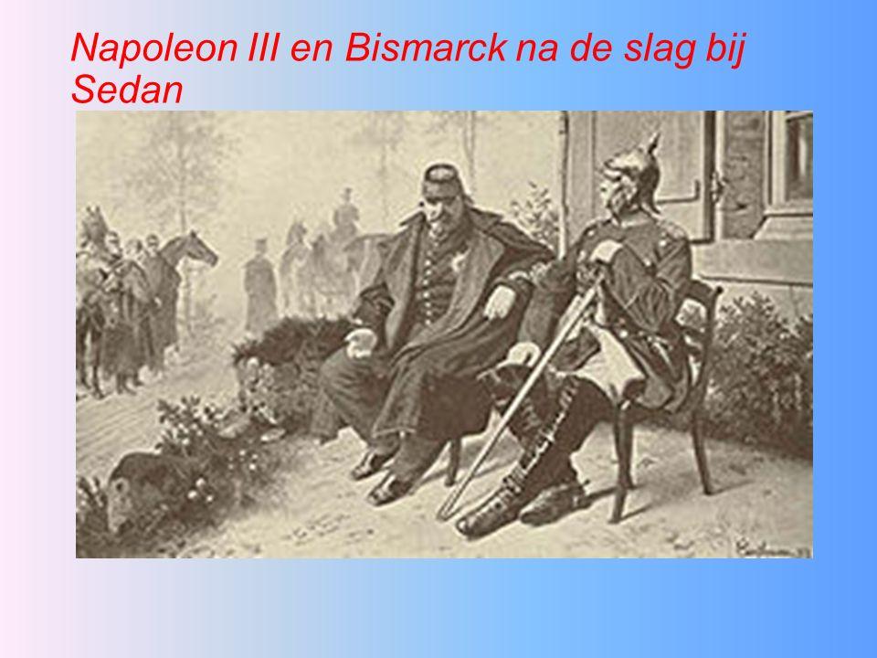 Napoleon III en Bismarck na de slag bij Sedan