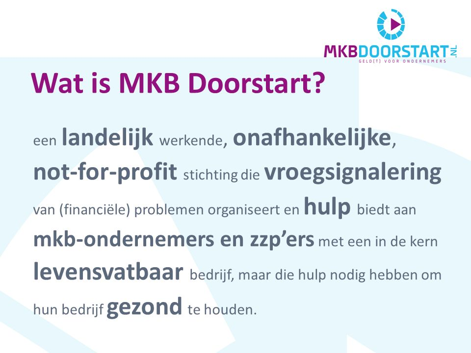 Wat is MKB Doorstart.