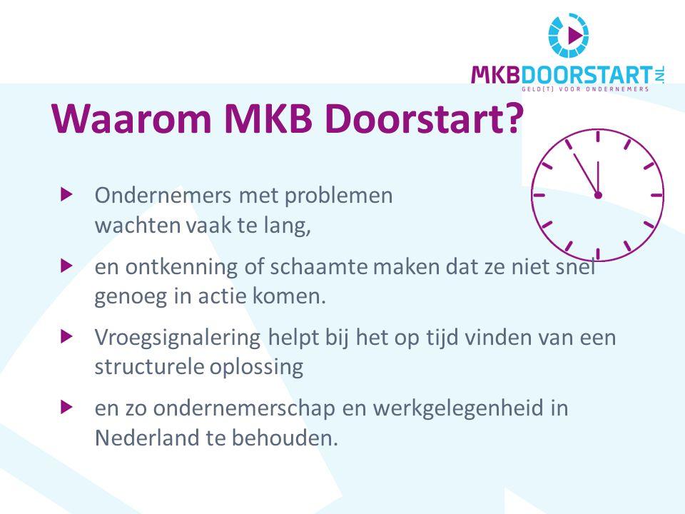 www.mkbdoorstart.nl DÉ ONAFHANKELIJKE PORTAL voor ONDERNEMERS met een IN DE KERN GEZOND BEDRIJF die te maken hebben met DREIGENDE ( FINANCIËLE ) PROBLEMEN