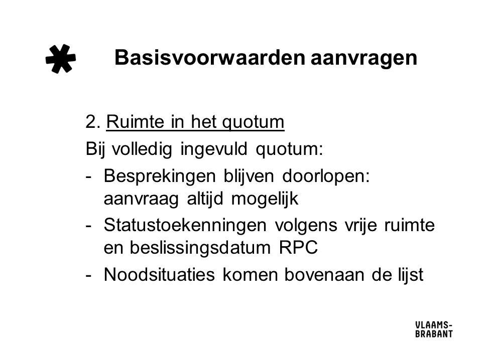 Basisvoorwaarden aanvragen 2.