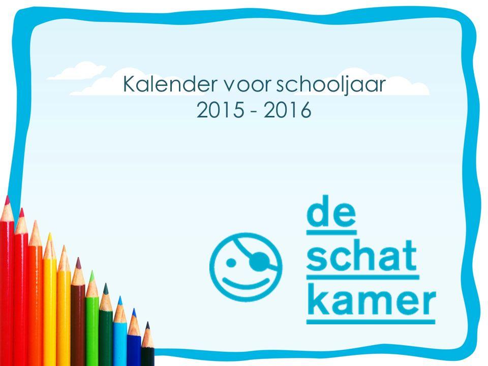 Kalender voor schooljaar 2015 - 2016