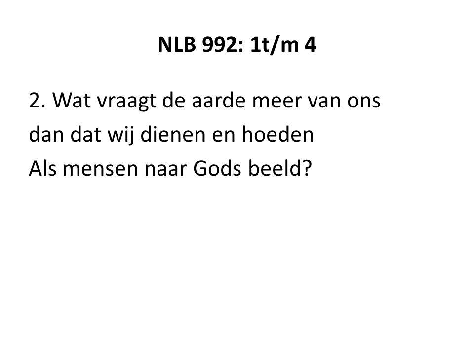 NLB 992: 1t/m 4 2.