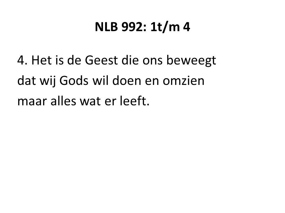 NLB 992: 1t/m 4 4.