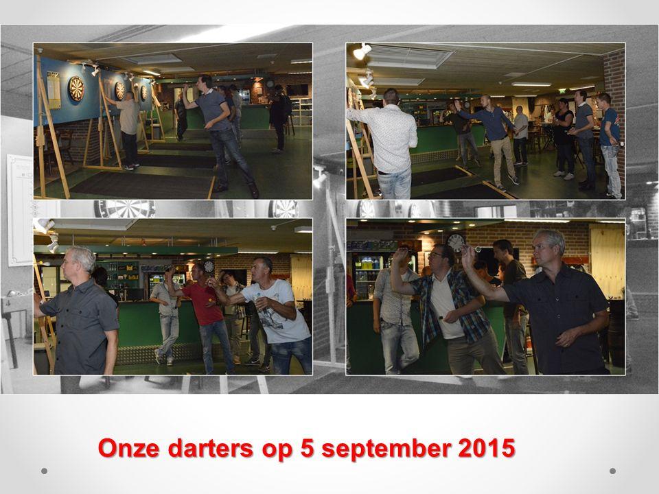 Onze darters op 5 september 2015