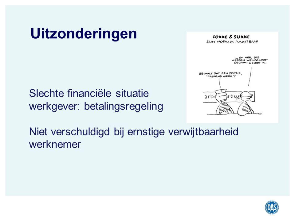 DAS Juridisch Advies Rechtsbijstand | Incasso | Juridisch advies jouw recht Uitzonderingen Slechte financiële situatie werkgever: betalingsregeling Ni
