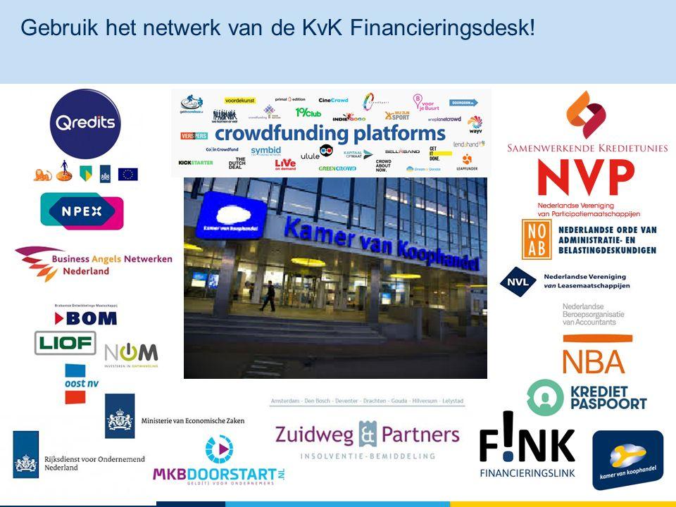 Gebruik het netwerk van de KvK Financieringsdesk! 19