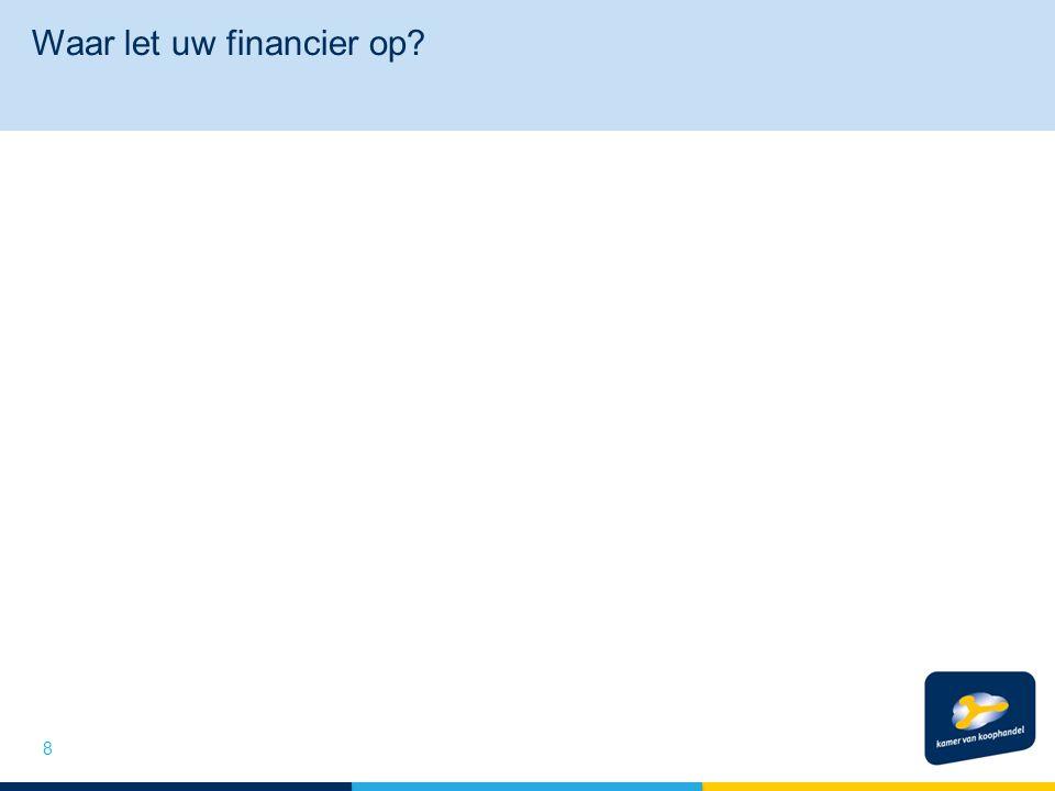 Waar let uw financier op 8