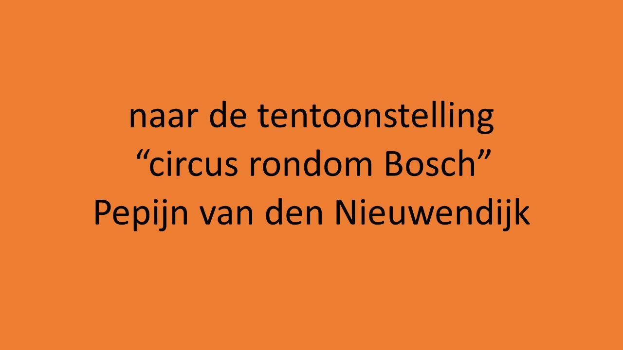 naar de tentoonstelling circus rondom Bosch Pepijn van den Nieuwendijk