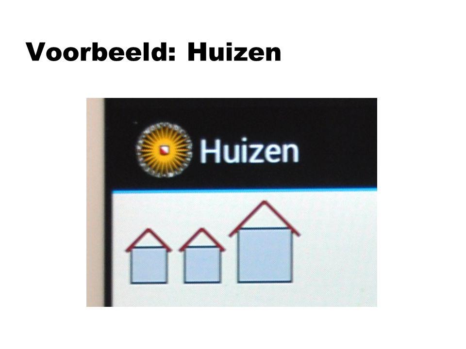 Voorbeeld: Huizen