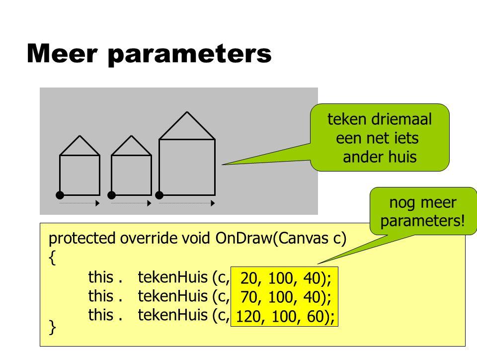Meer parameters this. tekenHuis (c, …); this. tekenHuis (c, …); this.