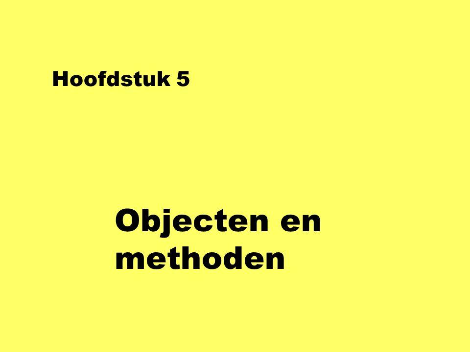 Hoofdstuk 5 Objecten en methoden