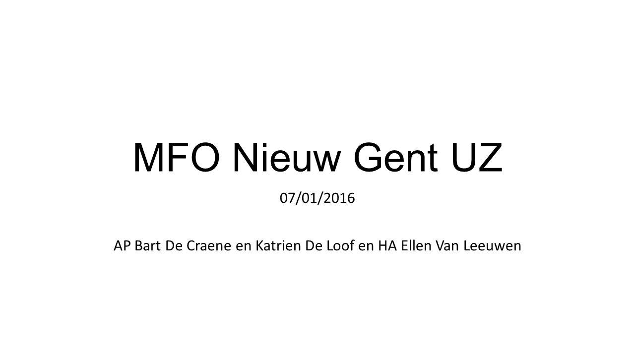 MFO Nieuw Gent UZ 07/01/2016 AP Bart De Craene en Katrien De Loof en HA Ellen Van Leeuwen