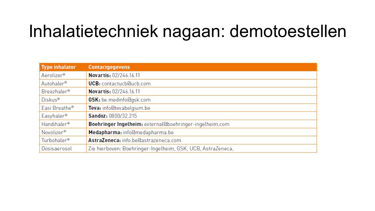 Inhalatietechniek nagaan: demotoestellen