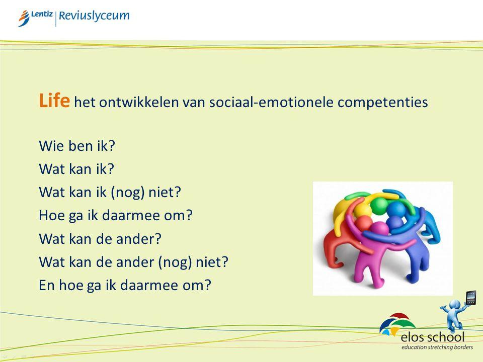 Life het ontwikkelen van sociaal-emotionele competenties Wie ben ik.