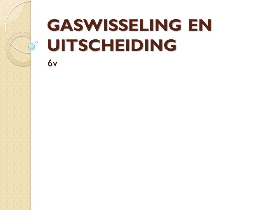 GASWISSELING EN UITSCHEIDING 6v