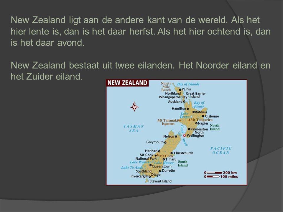 New Zealand ligt aan de andere kant van de wereld.