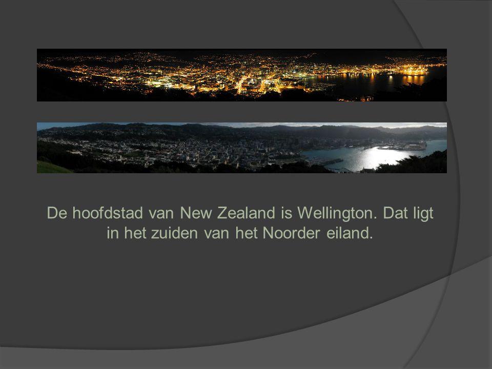 De hoofdstad van New Zealand is Wellington. Dat ligt in het zuiden van het Noorder eiland.