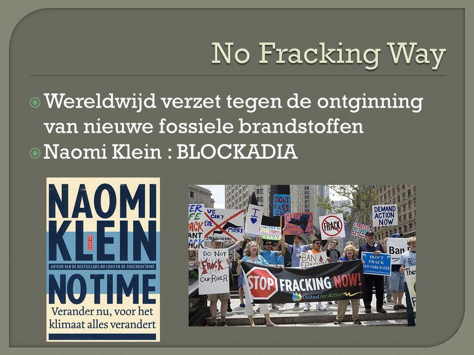  Wereldwijd verzet tegen de ontginning van nieuwe fossiele brandstoffen  Naomi Klein : BLOCKADIA