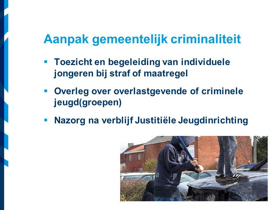 Vereniging van Nederlandse Gemeenten  Toezicht en begeleiding van individuele jongeren bij straf of maatregel  Overleg over overlastgevende of crimi