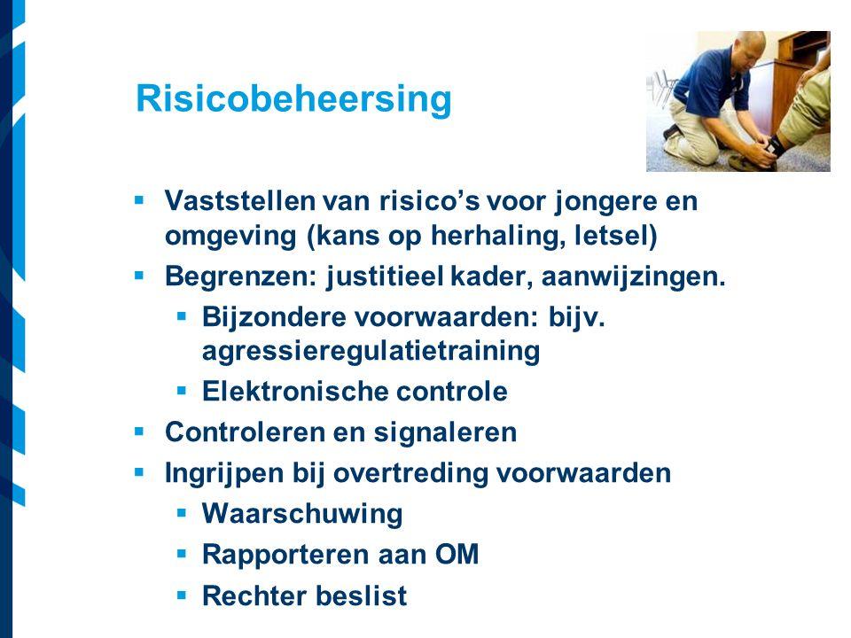 Vereniging van Nederlandse Gemeenten  Vaststellen van risico's voor jongere en omgeving (kans op herhaling, letsel)  Begrenzen: justitieel kader, aa