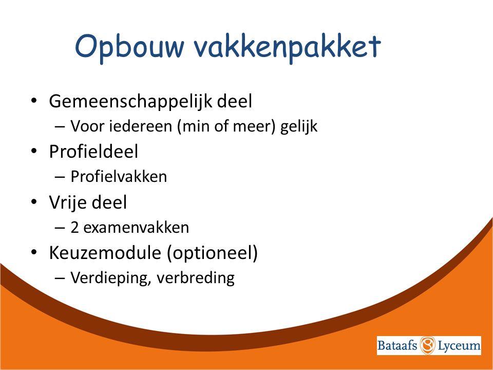 Gemeenschappelijk deel Vakken: Nederlands Engels Duits / Frans (ath) of Latijn / Grieks (gym) !ontheffing mogelijk.