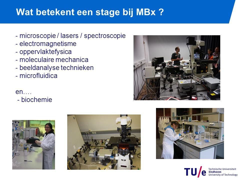Wat betekent een stage bij MBx .