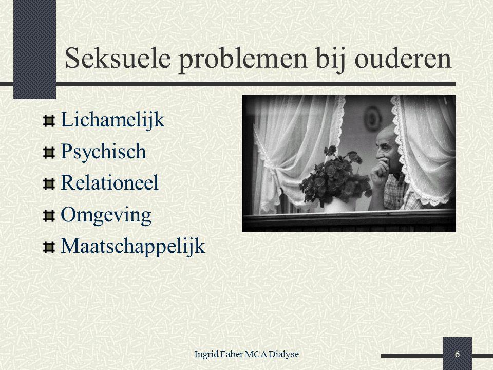 Ingrid Faber MCA Dialyse6 Seksuele problemen bij ouderen Lichamelijk Psychisch Relationeel Omgeving Maatschappelijk