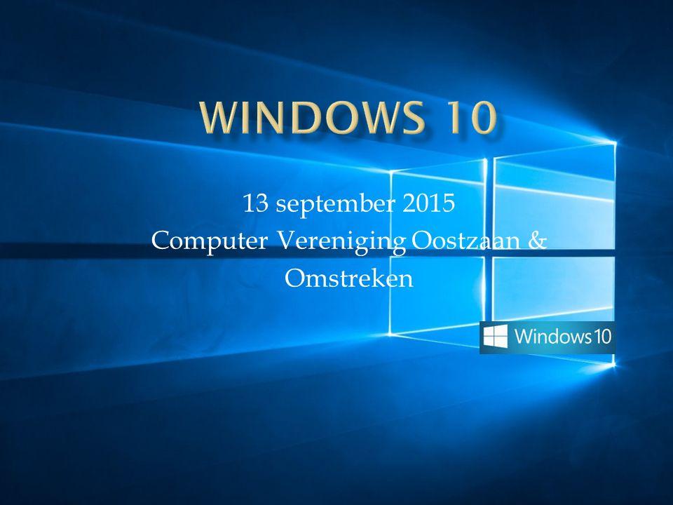  Laptops CVOO zijn over op W10  Updates in juni door Wietske, Daan en Hans  Reserveren Windows 10 = gratis  29/07/2015 eigen pc overgezet naar W10  Gemiddeld duurt de upgrade 1 uur