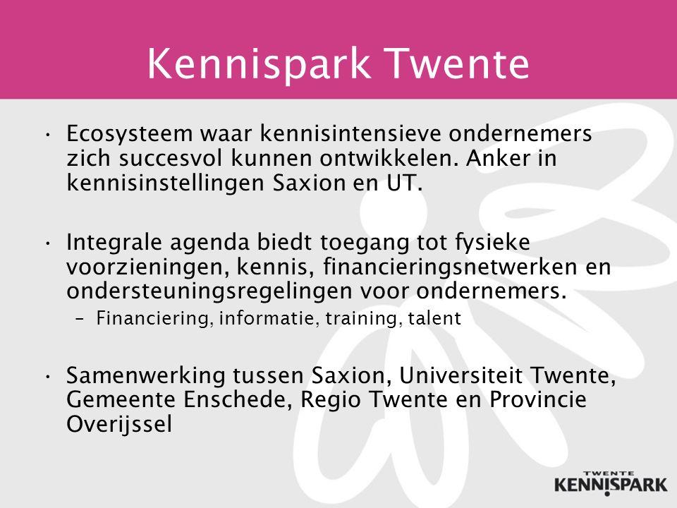 Kennispark Twente Ecosysteem waar kennisintensieve ondernemers zich succesvol kunnen ontwikkelen.