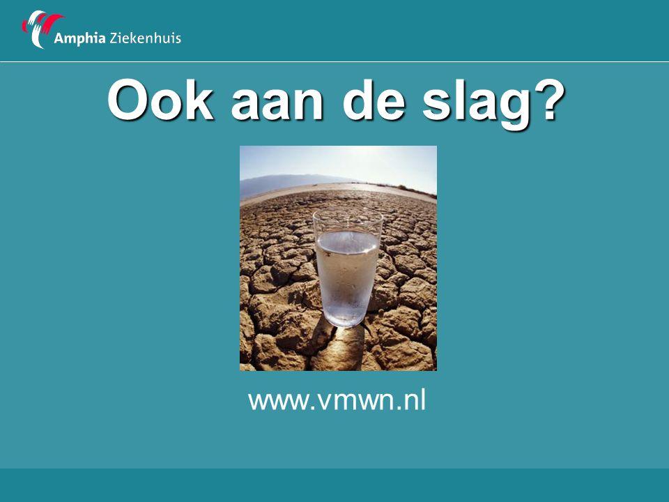 Ook aan de slag? www.vmwn.nl