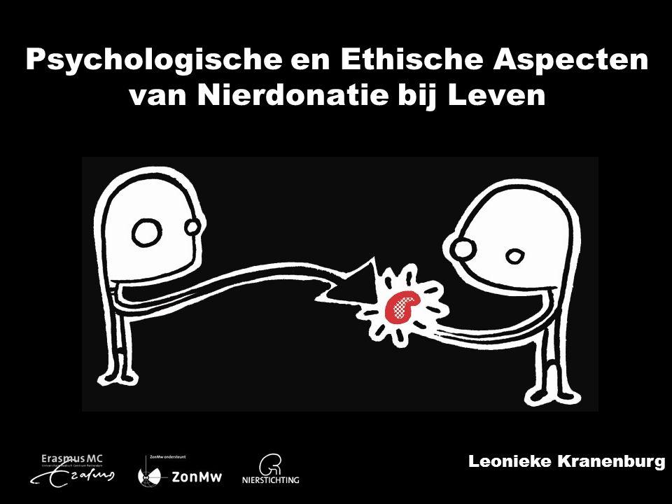 Leonieke Kranenburg Psychologische en Ethische Aspecten van Nierdonatie bij Leven