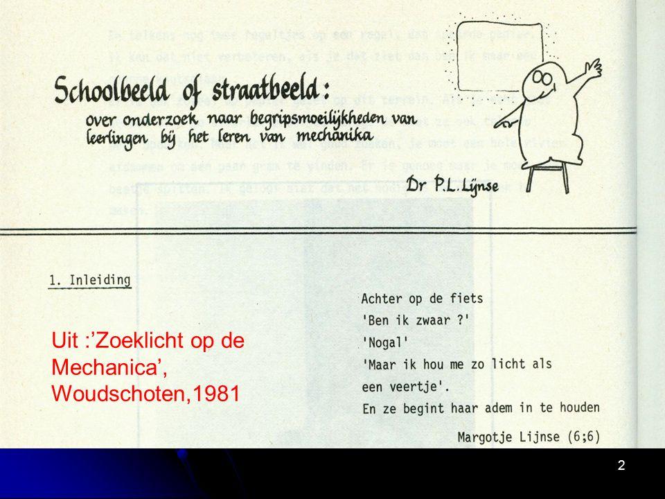 23 1975-2000 Leerlinggerichtheid en doelverbreding (WEN, NABISK) Piaget: constructivisme Cognitve swing: Ausubel