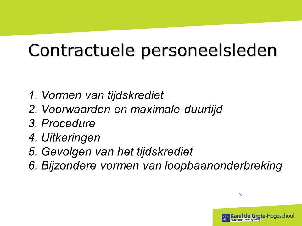 start met voorsprong 3 Contractuele personeelsleden 1.