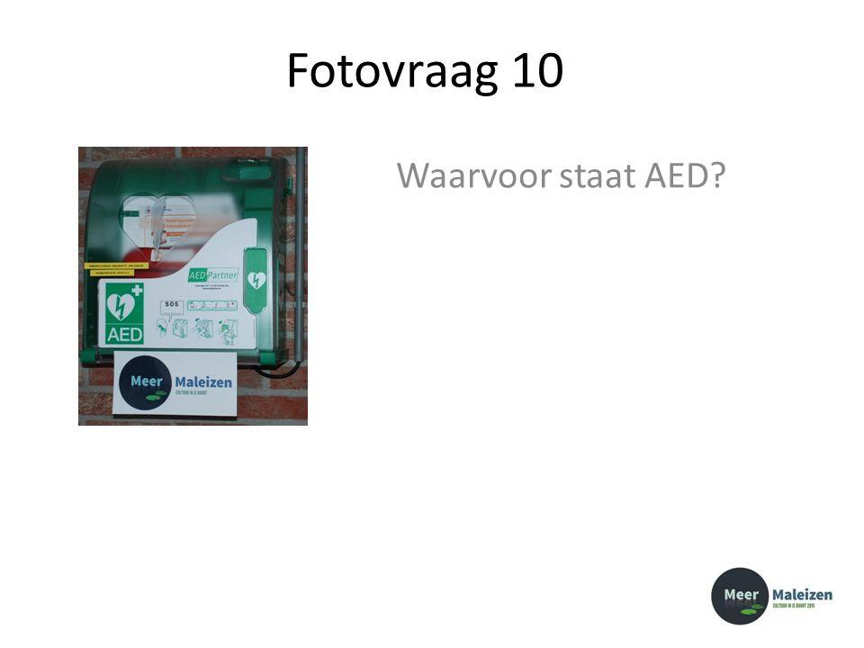 Fotovraag 10 Waarvoor staat AED?