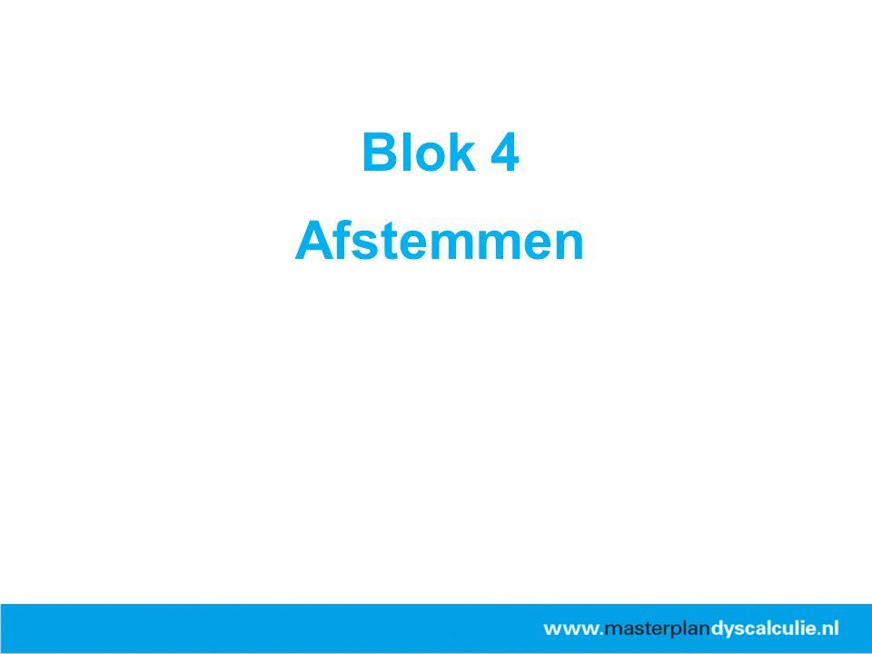 ERWD Blok 4 Afstemmen
