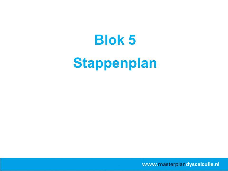 Blok 5 Stappenplan