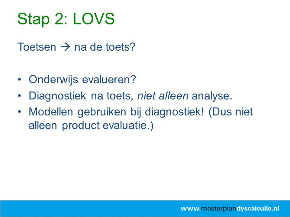 Toetsen  na de toets? Onderwijs evalueren? Diagnostiek na toets, niet alleen analyse. Modellen gebruiken bij diagnostiek! (Dus niet alleen product ev