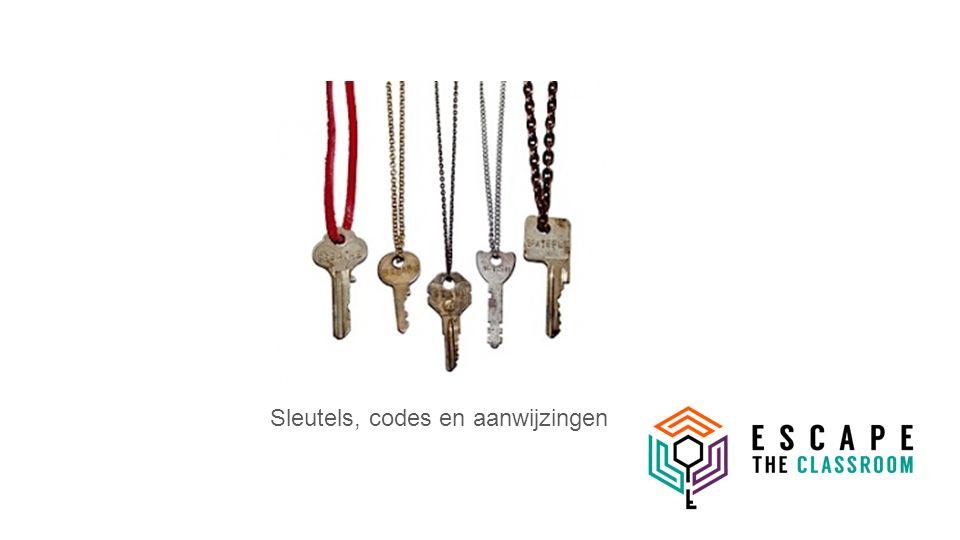 Sleutels, codes en aanwijzingen