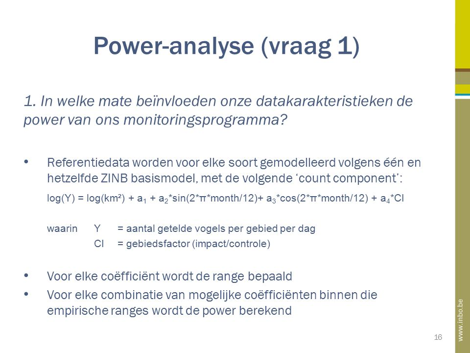 Power-analyse (vraag 1) 16 1.
