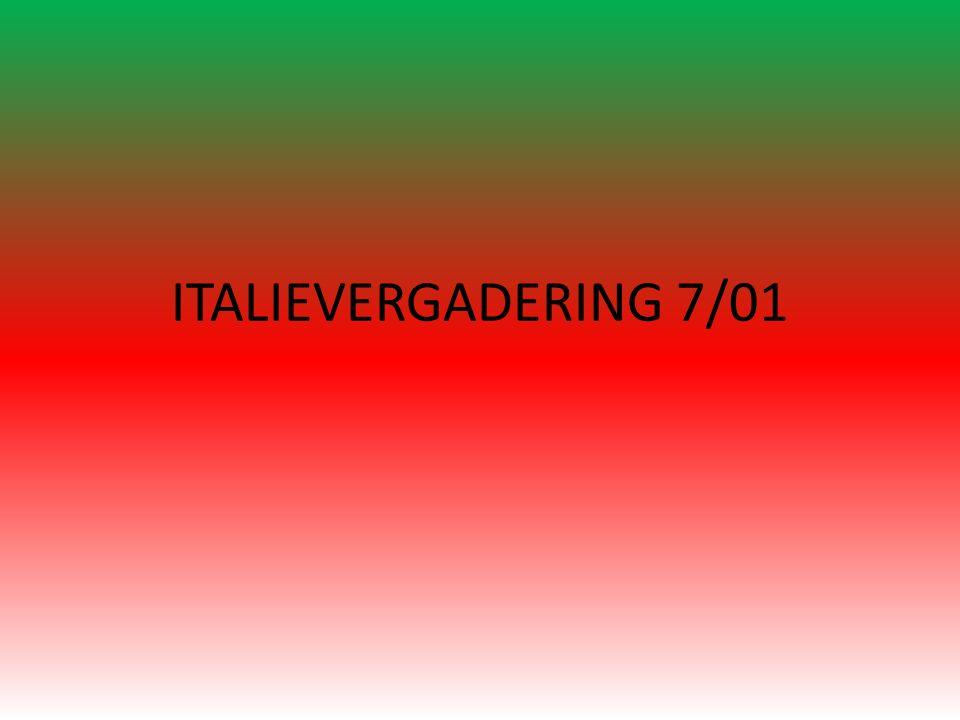 ITALIEVERGADERING 7/01