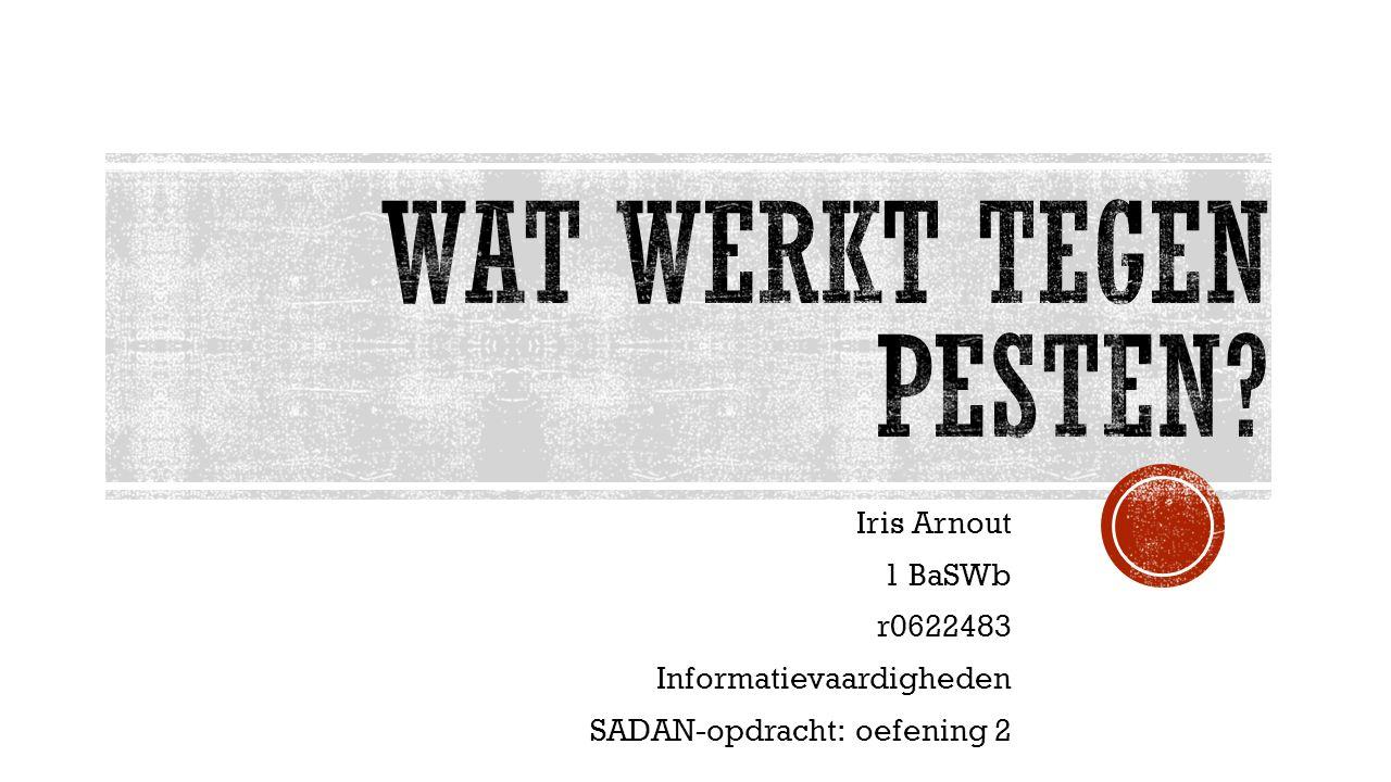 Iris Arnout 1 BaSWb r0622483 Informatievaardigheden SADAN-opdracht: oefening 2