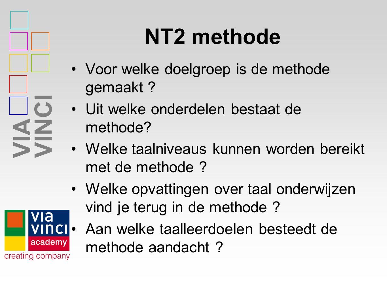VIAVINCI NT2 methode Voor welke doelgroep is de methode gemaakt .
