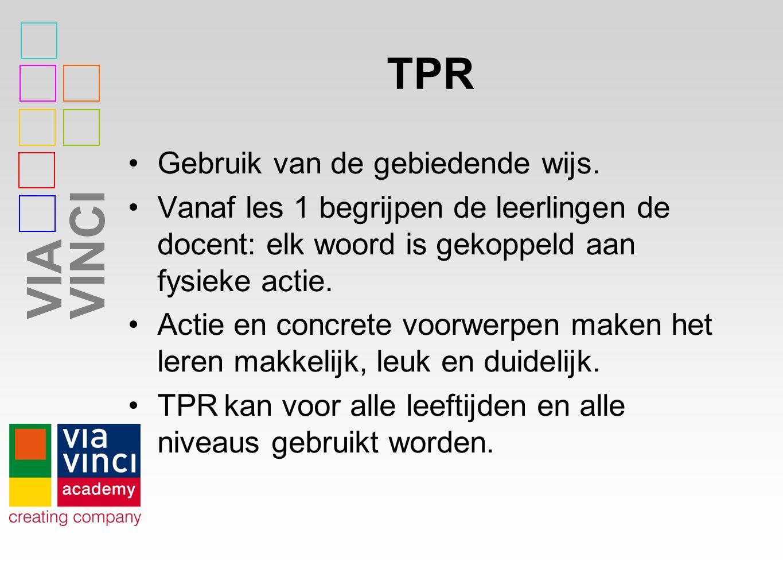 VIAVINCI TPR Gebruik van de gebiedende wijs.