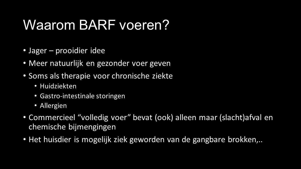 Waarom BARF voeren.
