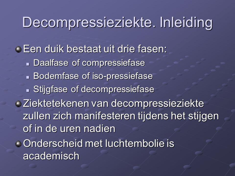 Decompressieziekte.